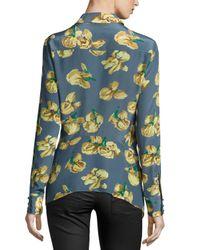 Zac Zac Posen - Multicolor Dyna Floral-print Blouse - Lyst