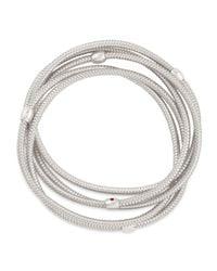 Roberto Coin | Primavera 18k White Gold 5-strand Bracelet | Lyst