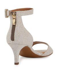 Kay Unger - Natural Sullia Leather Ankle-wrap Sandal - Lyst