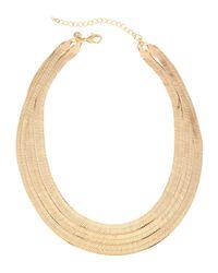 Lydell NYC | Metallic Golden Triple-strand Snake Bib Necklace | Lyst