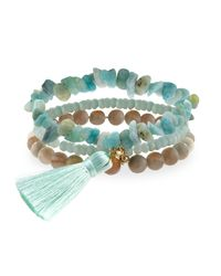 Panacea | Green Amazonite Stretch Bracelet Set | Lyst