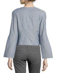 Nanette Lepore - Blue Patch-pocket Blazer - Lyst