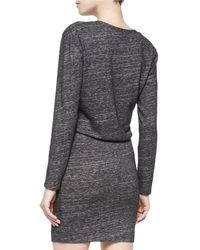 IRO - Gray Leticia Wrap-front Dress - Lyst