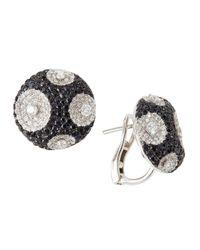 Roberto Coin   Metallic Meteorite Diamond & Sapphire Earrings   Lyst