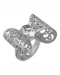 Pasquale Bruni - Metallic 18k Diamond & Topaz Bow Ring - Lyst