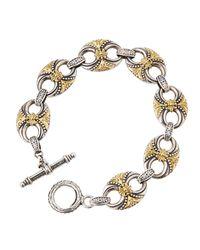 Konstantino - Metallic Sterling Silver & 18k Gold Link Bracelet - Lyst