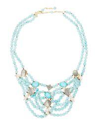 Alexis Bittar | Blue Multi-strand Beaded Stone Bib Necklace | Lyst