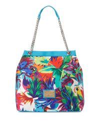 Love Moschino - Blue Jungle-print Canvas Tote Bag - Lyst