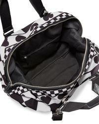 Love Moschino - Black Check Canvas Weekender Bag - Lyst