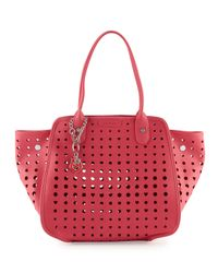 Love Moschino - Red Borsa Faux-leather Cutout Satchel - Lyst