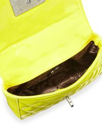 Love Moschino - Yellow Vern Faux-leather Quilted Crossbody Bag - Lyst