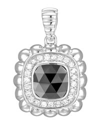 John Hardy - Black Batu Bedeg Small Hematite & Diamond Pendant Enhancer - Lyst