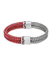 John Hardy | Metallic Men's Dayak Double-row Silver & Nylon Bracelet for Men | Lyst