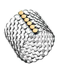 John Hardy | Multicolor Dot Sterling & 18k Chain Mail Link Bracelet | Lyst