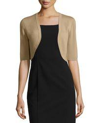 Michael Kors | Brown Half-sleeve Wool Shrug | Lyst