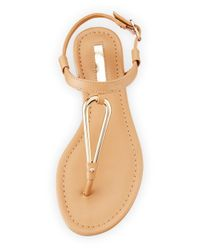 BCBGeneration - Multicolor Funky T-strap Flat Sandal - Lyst