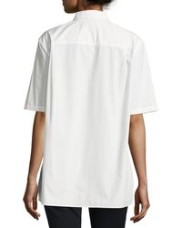 Equipment - White Short-sleeve Major Tunic Shirt - Lyst