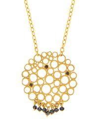 Gurhan | Metallic 24k Black Diamond Lace Pendant Necklace | Lyst