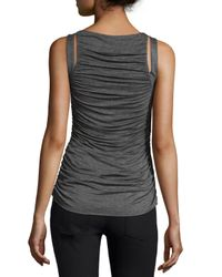 Bailey 44 - Gray Ruched-front Sleeveless Top - Lyst