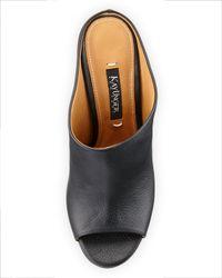 Kay Unger - Black Hodden Slip-on Dress Sandal - Lyst