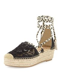 Nanette Nanette Lepore - Black Bitsy Crocheted Platform Sandal - Lyst
