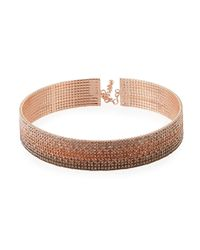 Fragments - Multicolor Ombre Crystal Choker - Lyst