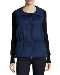 Lafayette 148 New York | Blue Colt Cashmere Puffer Vest | Lyst