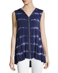 Neiman Marcus - Blue Tie-dye Hooded Vest - Lyst