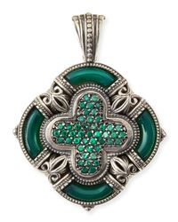 Konstantino - Ismene Clover Pendant With Green Agate - Lyst