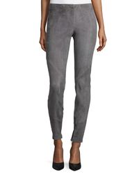 Lafayette 148 New York | Multicolor Slim Suede Ankle-zip Pants | Lyst