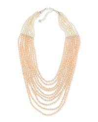 Nakamol | White Multi-strand Pastel Crystal-beaded Necklace | Lyst