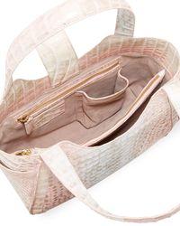 Nancy Gonzalez - Pink Small Dipped Crocodile Tote Bag - Lyst