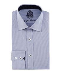 English Laundry | Blue Houndstooth Cotton Dress Shirt for Men | Lyst