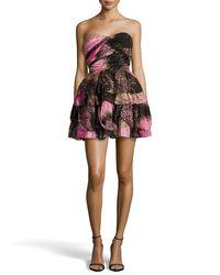 Diane von Furstenberg - Multicolor Brighton Strapless Printed Dress - Lyst