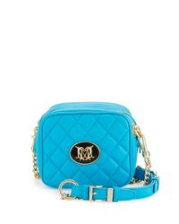 Love Moschino - Blue Napa Quilted Faux-leather Crossbody Bag - Lyst