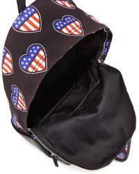 Love Moschino - Black Cuori Canvas Backpack - Lyst