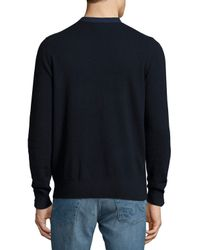 Neiman Marcus Blue Cashmere Button-front Cardigan for men