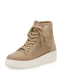 J/Slides | Brown Justin Mesh High-top Sneaker | Lyst