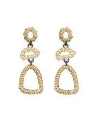 Armenta | Metallic Old World Free-form Triple-drop Earrings | Lyst