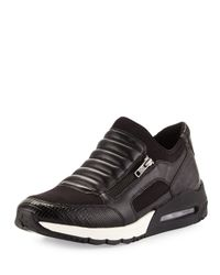 Ash - Black Madmax Leather Side-zip Sneaker for Men - Lyst