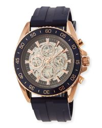 MICHAEL Michael Kors | Multicolor Jetmaster Automatic Skeleton Chronograph Watch W/ Rubber Strap for Men | Lyst
