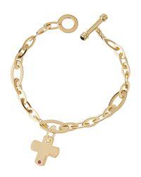 Roberto Coin - 18k Yellow Gold Chic N' Shine Cross Bracelet - Lyst