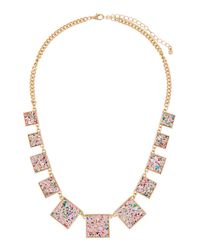 Romeo and Juliet Couture - Metallic Glitter Statement Necklace for Men - Lyst