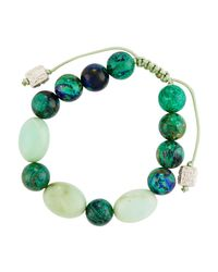 Armenta - Green Malachite & Chrysoprase Beaded Bracelet - Lyst