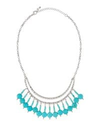 Fragments | White Hammered Turquoise Collar Necklace | Lyst