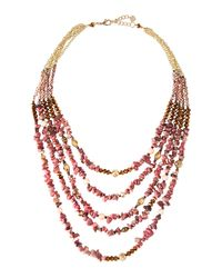 Nakamol | Multicolor Multi-strand Layered Stone & Pearl Beaded Necklace | Lyst