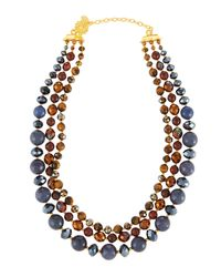 Jose & Maria Barrera | Multicolor Semiprecious Beaded Triple-row Necklace | Lyst