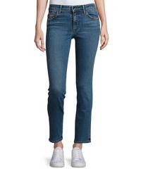 Helmut Lang   Blue Mid-rise Skinny Jeans   Lyst
