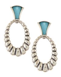 Lagos | Multicolor Venus Fluted Crystal & Turquoise Doublet Drop Earrings | Lyst