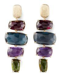 Marco Bicego - Multicolor Murano Four-drop Multi-gemstone Earrings - Lyst